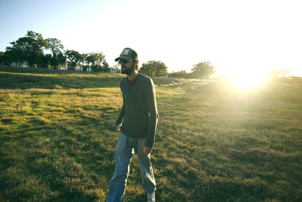 Andrew Yorke in a field